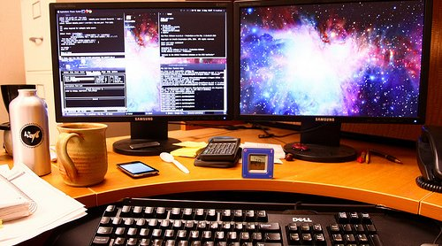 two-monitors