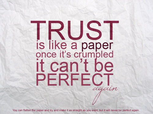 the two sides of trust